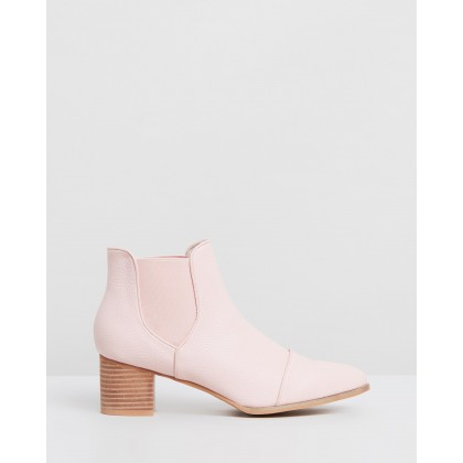 Kool Pebble Ankle Boots Pale Blush by Walnut Melbourne
