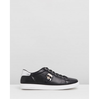 Kupsole II Karl Ikonic Lo Lace Shoes Black Leather by Karl Lagerfeld