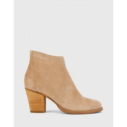 Kylar Block Heel Ankle Boots Nude by Wittner