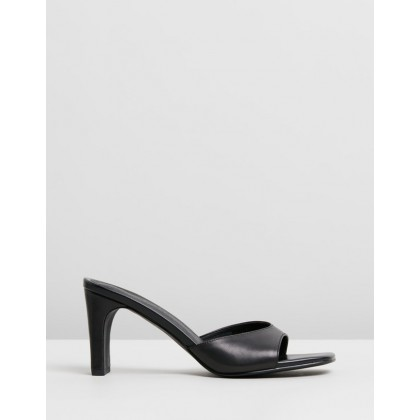 Kyra Leather Heels Black Leather by Atmos&Here