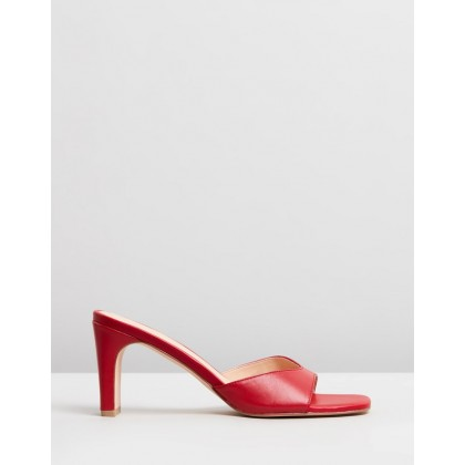 Kyra Leather Heels Red Leather by Atmos&Here