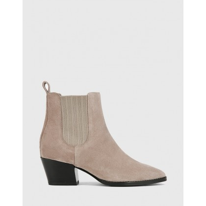 Kyrone Pointed Toe Elasticated Ankle Boots Grey by Wittner