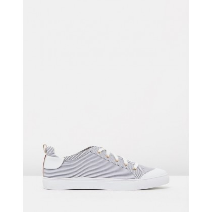 Lace Me Up Stripe Sneakers Stripe by Jaggar The Label