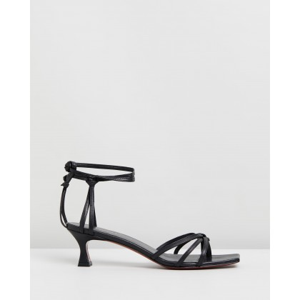 Lace Sandals Black by Manu Atelier