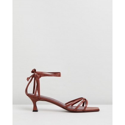 Lace Sandals Cognac by Manu Atelier