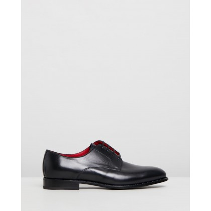 Lace-Up Derby Black Leather by Barrett