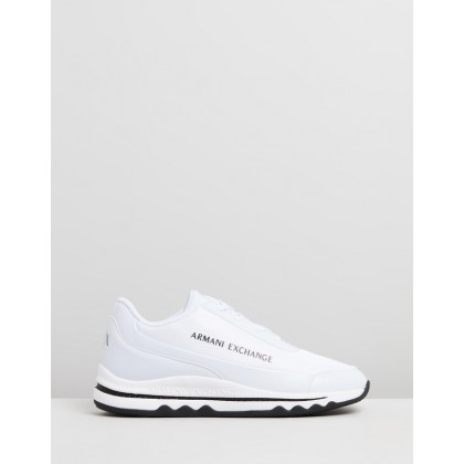 Lace-Up Sneaker White by Armani Exchange