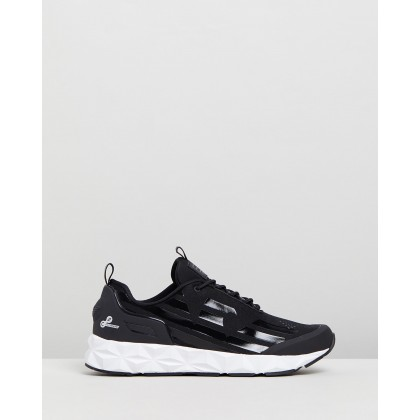 Lace Up Sneakers Black by Emporio Armani Ea7