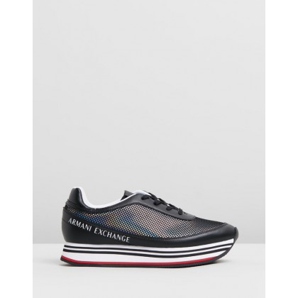 Lace-Up Sneakers Black by Armani Exchange