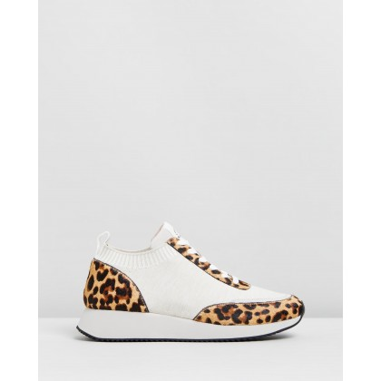 Lace-Up Sneakers Off White Leopard by Loeffler Randall