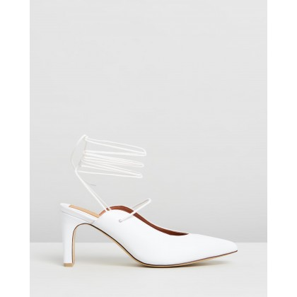 Laced Leather Heels Ivory by Jaggar The Label