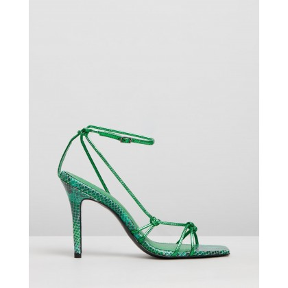Laila Stiletto Sandals Emerald by Camilla And Marc