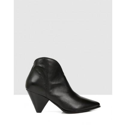 Lane Ankle Boots Nero by Sempre Di