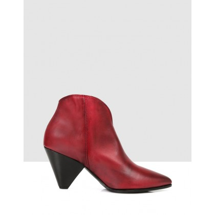 Lane Ankle Boots Tomato by Sempre Di