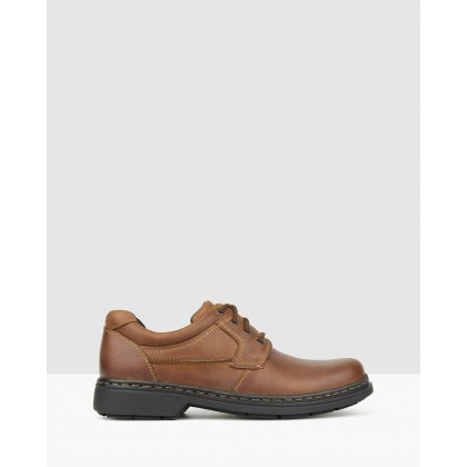 Larry Leather Lace-Up Shoes Chestnut by Airflex