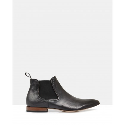 Larson Leather Chelsea Boots Antracite by Brando