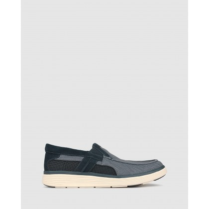 League Comfort Loafers Navy Canvas by Airflex