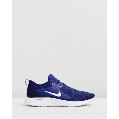 Legend React - Men's Indigo Force, White, Blue Void & Red Orbit by Nike