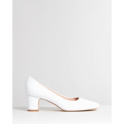 Leigh Leather Pumps White Leather by Atmos&Here