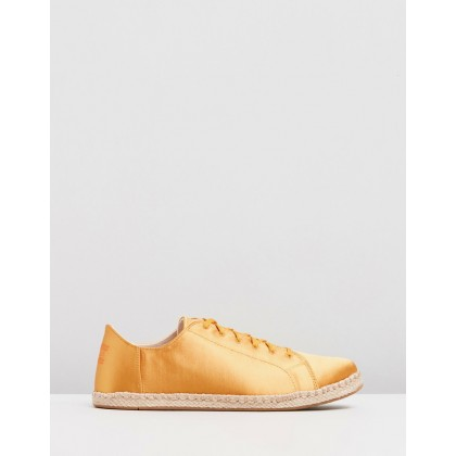 Lena Sneakers - Women's Sunflower Satin by Toms