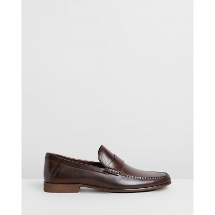 Leston Leather Loafers Brown by Double Oak Mills