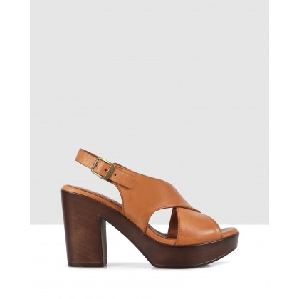 Letizia Sandals Tan-8402 by S By Sempre Di