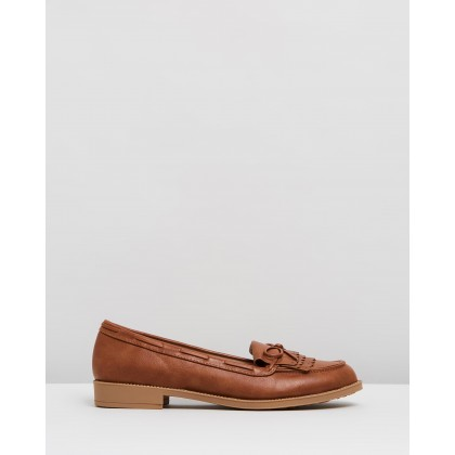 Letty Fringe Loafers Tan by Dorothy Perkins