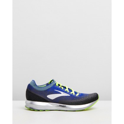 Levitate 2 Sneakers - Men's Black, Blue & Nightlife by Brooks