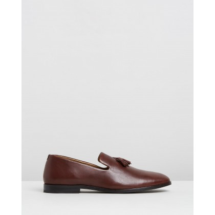 Lewis Leather Loafers Brown by Double Oak Mills