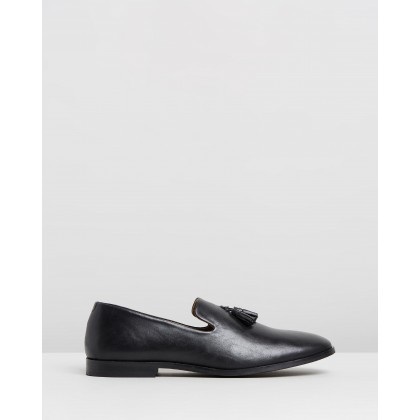 Lewis Leather Loafers Black by Double Oak Mills