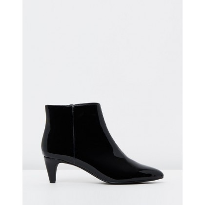 Lexi Leather Ankle Boots Black Patent by Atmos&Here