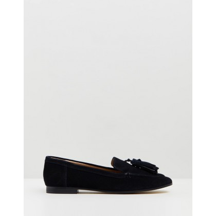 Lexi Suede Loafers Black by Topshop