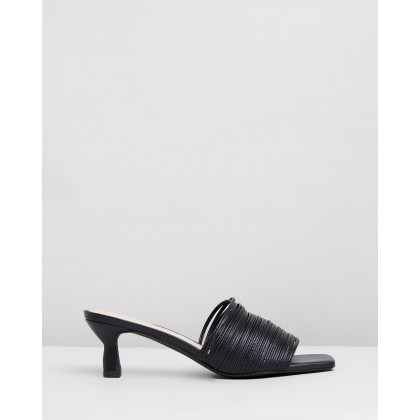 Lidia Mules Black by Sol Sana