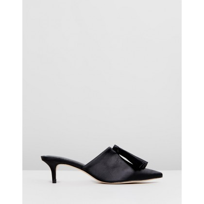 Liesl Silk Kitten Heels Black by Mara & Mine