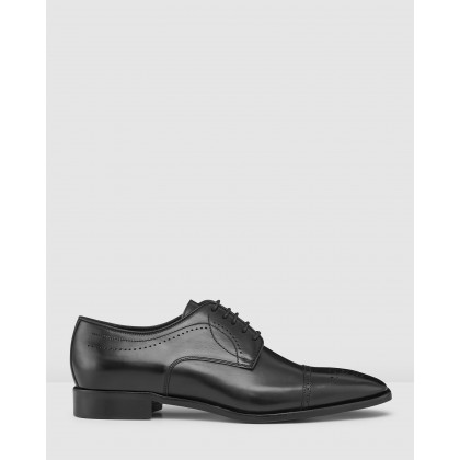 Lillard Brogue Dress Shoes Black by Aquila
