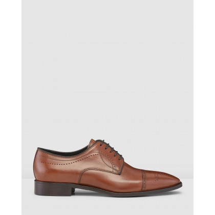 Lillard Brogue Dress Shoes Brandy by Aquila
