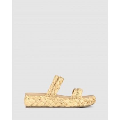 Lilo Plaited Rafia Flatform Sandals Natural by Zu