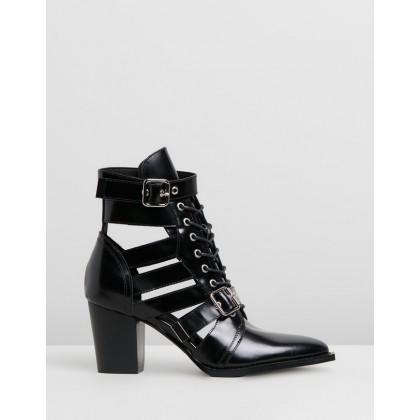 Lindsaya Black Box Leather by Mollini