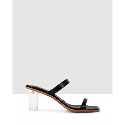 Liza Block Sandals Black by Beau Coops