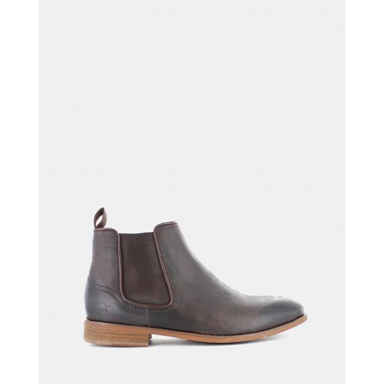 Lloyd Chelsea Boots Dark Brown Leather by Wild Rhino