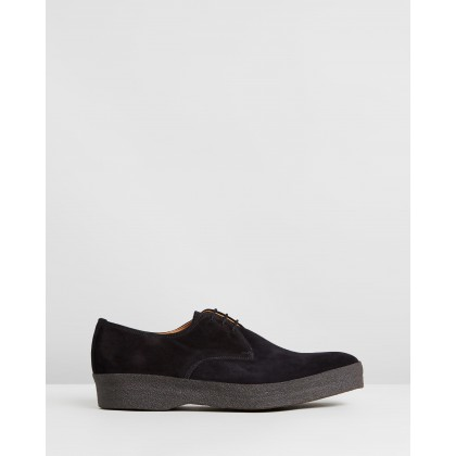 Lo Top Gibson Black Suede by Sanders