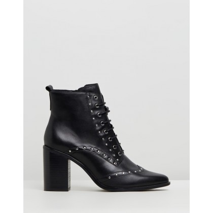 London Ankle Boots Black Leather by Jo Mercer