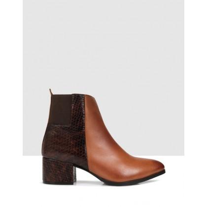Loretta Ankle Boots Brown by Sempre Di