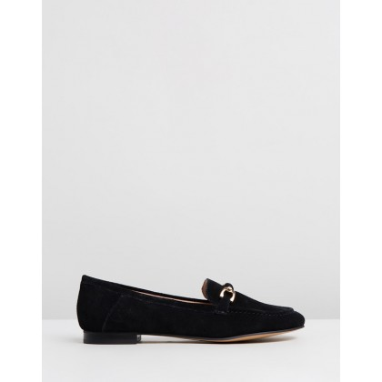 Lori Suede Loafers Black by Topshop