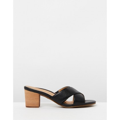 Lorne Slide Sandals Black by Vionic