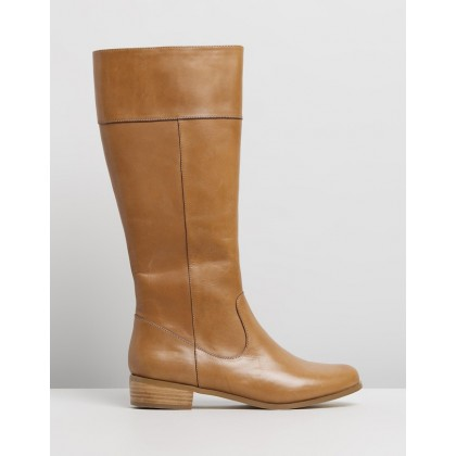 Lou Leather Boots Tan Leather by Atmos&Here