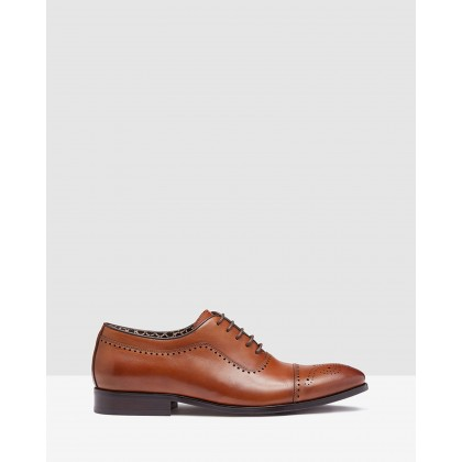 Louis Oxford Brogue Shoe Sandalwood Dip Dye by Oxford