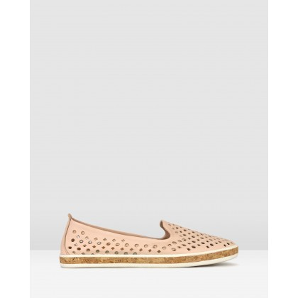 Louis Perforated Leather Loafers Blush by Airflex