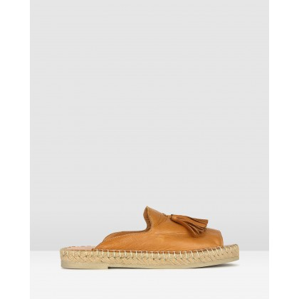 Love It Leather Espadrille Sandals Tan by Airflex