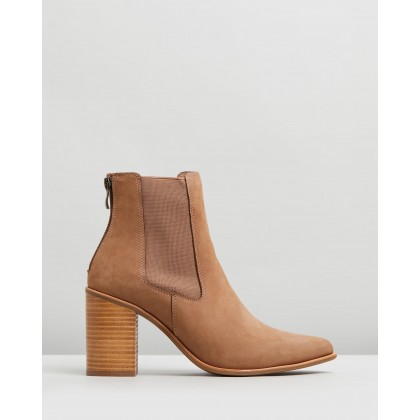 Lover Dress Boots Taupe Nubuck by Jo Mercer